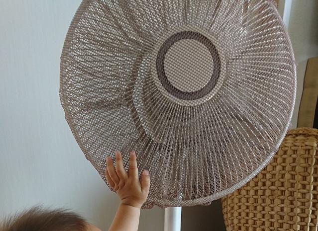 扇風機と手