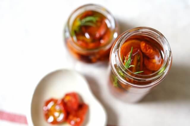 トマトのオリーブオイル漬け